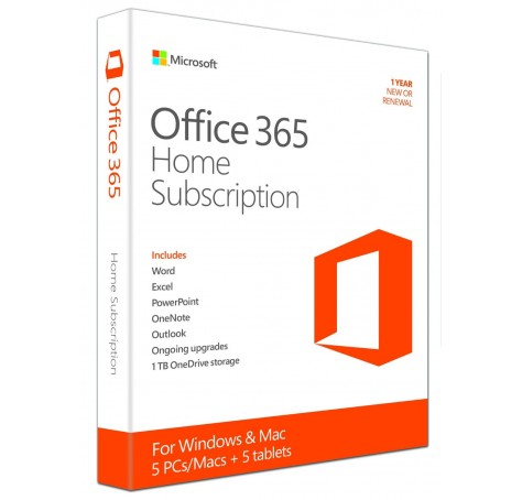 Microsoft Office 365 Home (One-Year Subscription) Download
